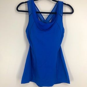 Lululemon super sport tank top blue built in bra